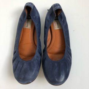 Lanvin blue ballet flats 38.5